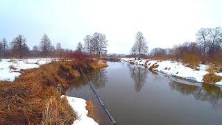 7 КМ по реке ЗА ЩУКОЙ - ВЕСЕННИЙ СПИННИНГ! Рыбалка ранней весной на лесной реке! Щука на спиннинг!