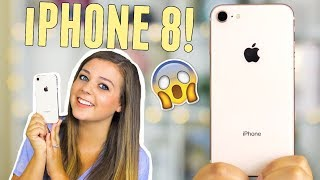 iPHONE 8 GOLD UNBOXING, REVIEW, FIRST IMPRESSIONS + GIVEAWAY! WHAT
