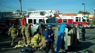 Traffic Collision w Entrapment @ Albermarle & Manchester 11.02.10.mp4