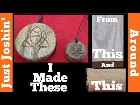 DIY Custom Wooden Celtic Style Jewelry // Homemade Locket Set // Just Joshin' Around