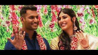 Vishal and Anisha Reddy Engagement at Hyderabad!