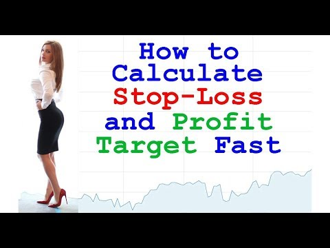 How To Calculate Stop Loss And Take Profit Easily // Set Profit Target Limit Order