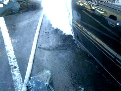 Car Fire With Water Reaction