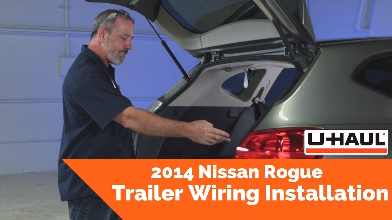 2014 Nissan Rogue Trailer Wiring Installation - YouTube