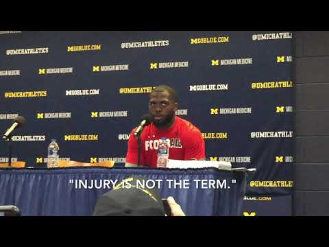 Watch J.T. Barrett reenact how his pregame knee injury against Michigan happened