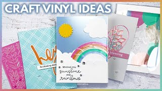 Craft Vinyl Ideas For Paper Crafts and Card Making