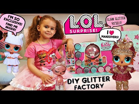 LOL Surprise DIY Glitter Factory FULL Unboxing and Review! + Tips