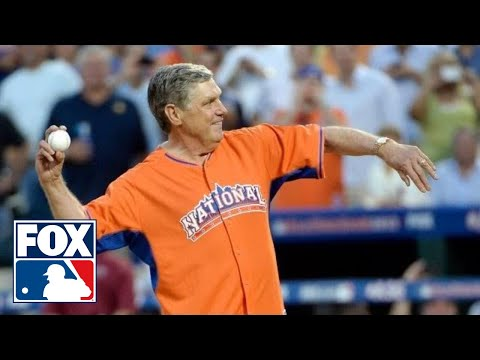 Tom Seaver Throws First Pitch at MLB All-Star Game