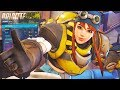 OVERWATCH *NEW* BRIGITTE ALL SKINS AND ITEMS!! (TORBJORN THEMED SKIN!)