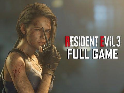 RESIDENT EVIL 3 REMAKE Walkthrough - FULL GAME (No Commentary)