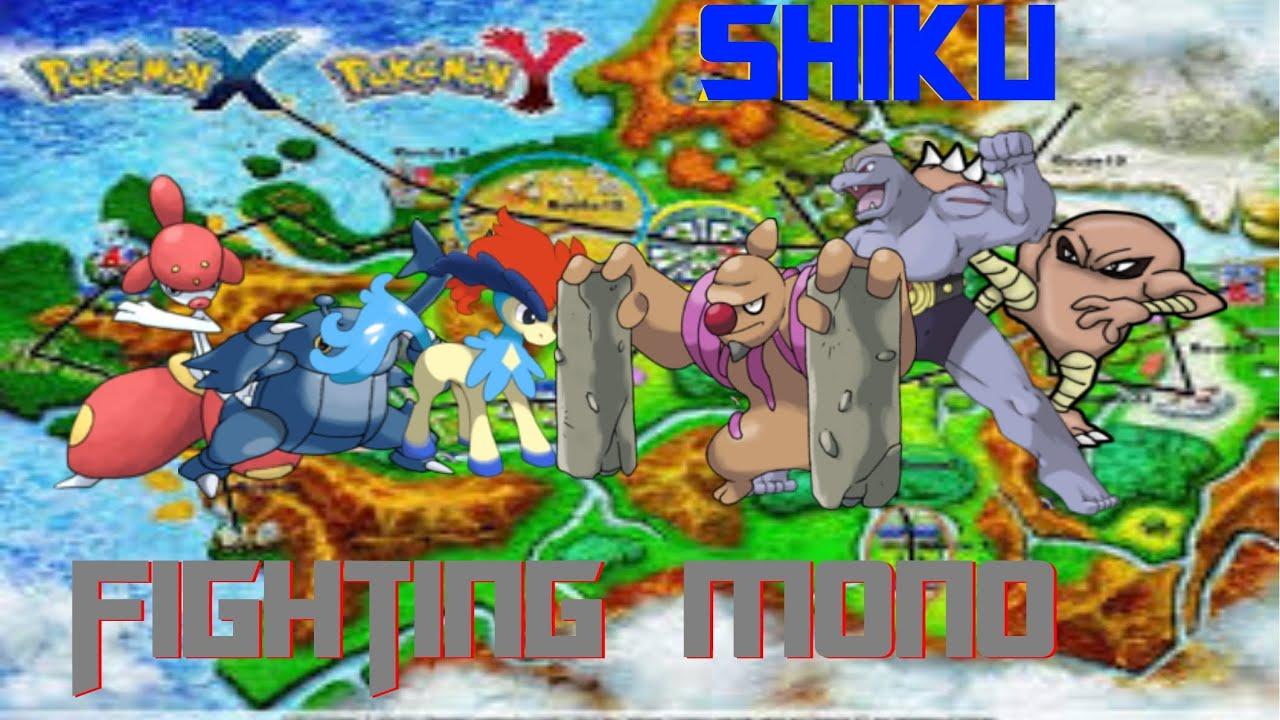 Raging War With Fighting Type Mono! Pokemon Showdown X and ...
