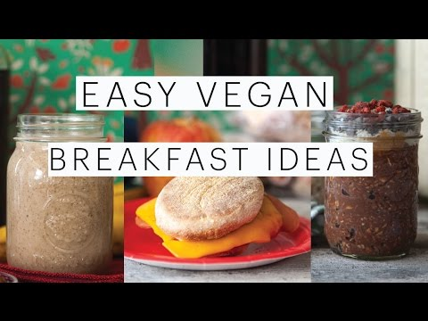 3 VEGAN BACK-TO-SCHOOL BREAKFAST IDEAS | Cinnabon Smoothie | Breakfast Sandwich | The Edgy Veg