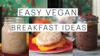 Back to School Easy Vegan Breakfast Ideas | Cinnabon Smoothie | Breakfast Sandwich | The Edgy Veg
