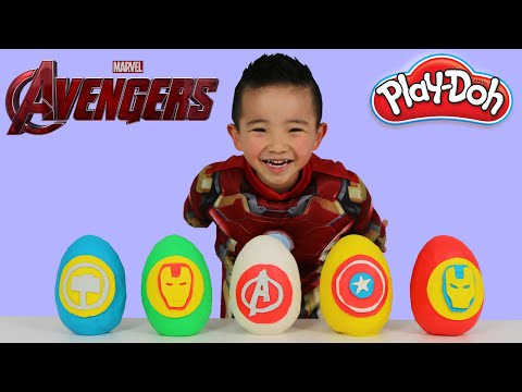 Thumbnail: Marvel Avengers Play-Doh Surprise Eggs Opening Fun With Iron Man Kids Surprise Toys Ckn Toys