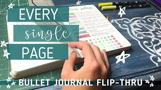 BULLET JOURNAL FLIP THROUGH! // My COMPLETED Bullet Journal (without commentary)