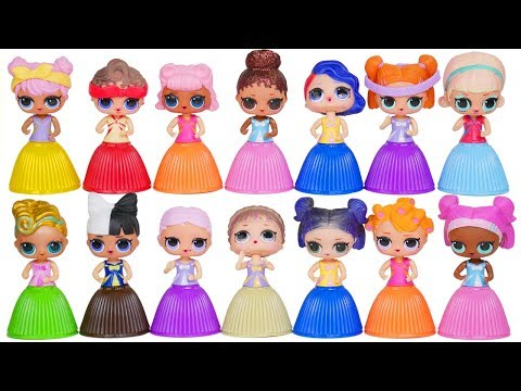 LOL Surprise Dolls Dress Up Fake Vs Real Lil Sisters + LQL Wrong Outfits Confetti Pop Series 3 Toys!