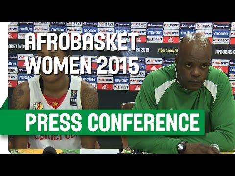 Cameroon v Nigeria - Post-Game Press Conference - AfroBasket Women 2015