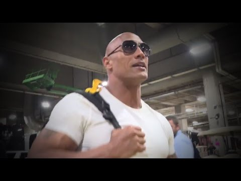 The Rock arrives and is ready to electrify at WrestleMania 32