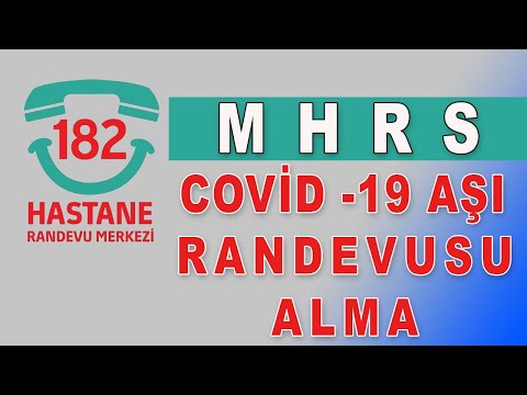 MHRS den Covid 19 Aşı Randevusu Nasıl Alınır
