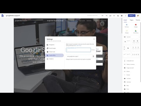 Assign a domain as a custom URL on a personal Google Site (NOT G Suite) - new Google Sites