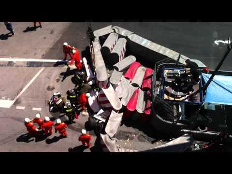Perez crash F1 Monaco GP 2011