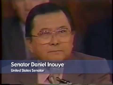 """Senator Daniel K. Inouye (HI) exposed """"a shadowy government"""" in 1987"""