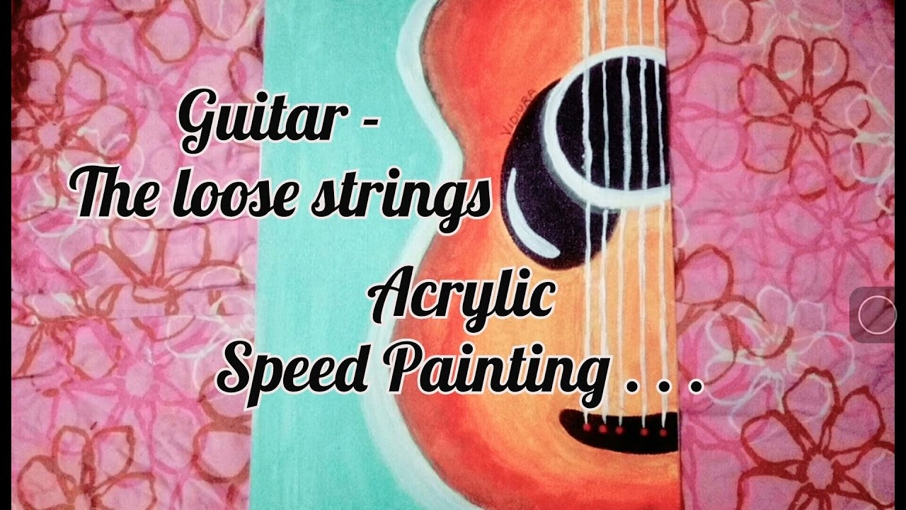 painting the guitar loose strings vidiura paints youtube. Black Bedroom Furniture Sets. Home Design Ideas