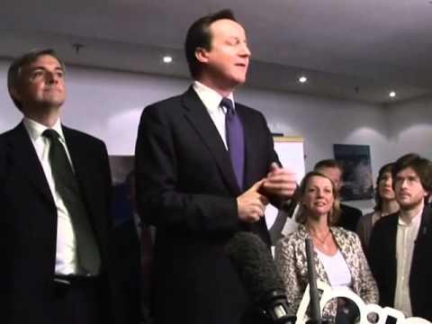 2010 David Cameron and Chris Huhne talk climate change