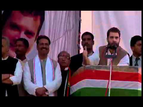 Rahul Gandhi addressing a public rally at Bindki, Fatehpur (UP): 13 February, 2012