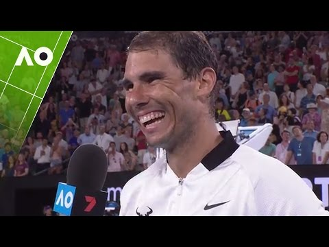 Rafael Nadal on court interview (4R) | Australian Open 2017