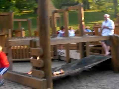 Running around Dormont Park, Pittsburgh Pennsylvania