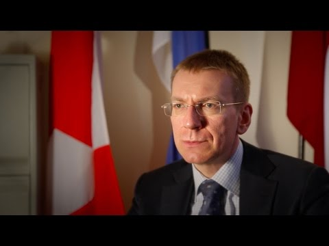 Interview With Latvian Minister of Foreign Affairs Edgars Rinkēvičs