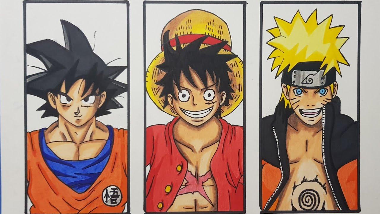 Goku in 9 art styles ! Drawing Anime Character Goku Luffy Naruto Anime Speed Drawing Youtube
