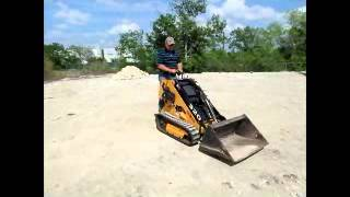 Sold! 2008 Boxer 320 Mini Ride On Skid Steer Loader With Trailer Bidadoo.com