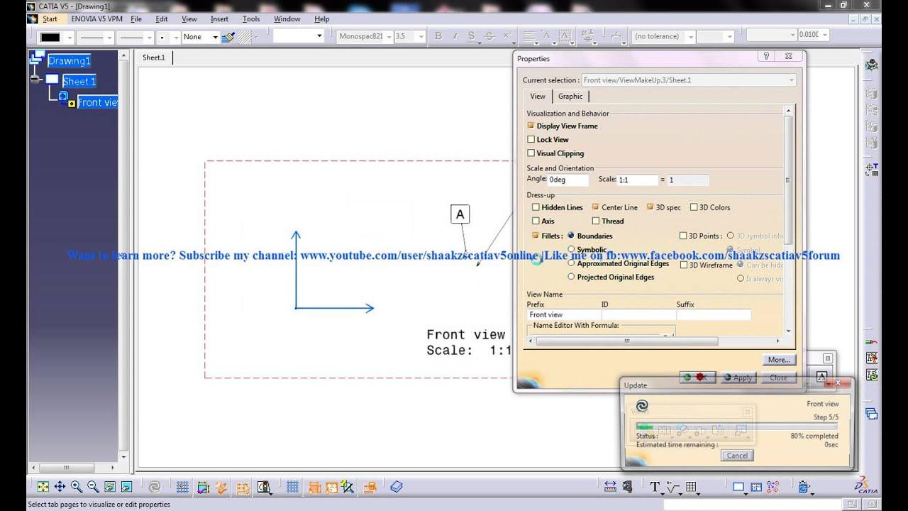 Catia V5 Drafting Adding Geometric Tolerance To Drawing