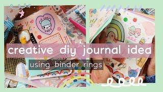 DIY Creative Mini Journal Idea Using Binder Rings | Rainbowholic 🌈
