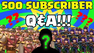 "Clash of Clans [500 HEROES ATTACK! Q&A SPECIAL + ""FACE REVEAL!?"" + EPIC & FUNNY CLAN WAR ATTACKS!]"