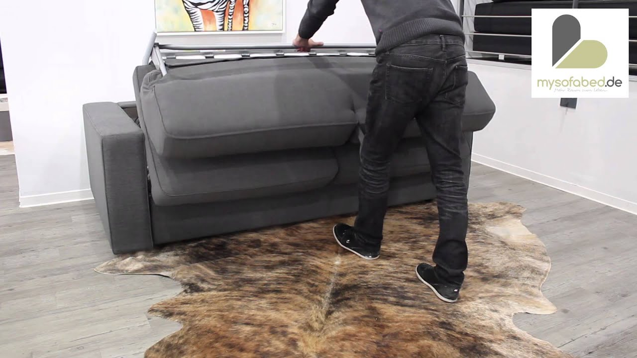schlafsofa chicago mit lattenrost und federkernmatratze von sofaplus youtube. Black Bedroom Furniture Sets. Home Design Ideas