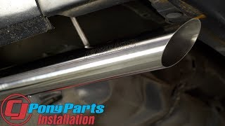 "Fox Body Mustang reclaims its classic sound: Flowmaster 2.5"" Stainless Steel CatBack Exhaust Install"