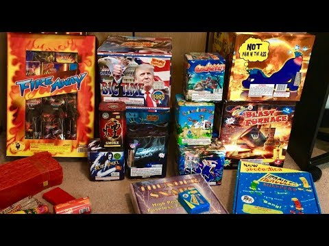 HUGE FIREWORK STASH NYE 2019 Pt2