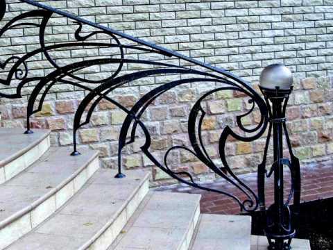 Перила 50  Кованые перила для крыльца в Днепропетровске в Днепре перила на крыльце