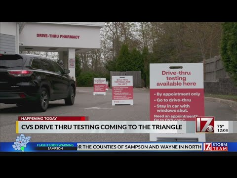 CVS Drive-thru COVID-19 Testing Now Open Across NC