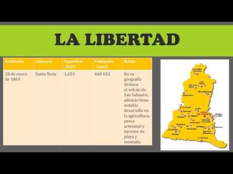 Los 14 Departamentos De El Salvador By Vanessa