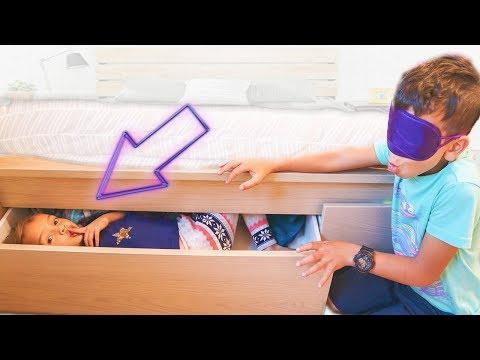 BLINDFOLD HIDE & SEEK in the TEENS ROOM!