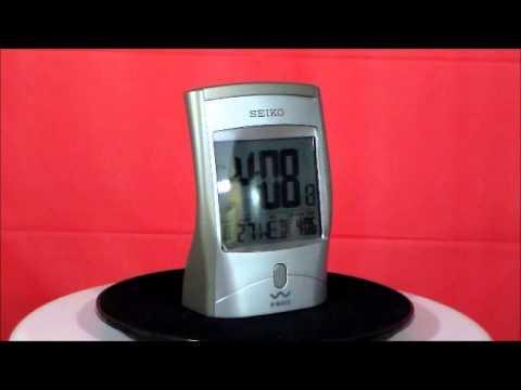 Seiko QHR001SLH Get Up And Glow R Wave Atomic Alarm Clock