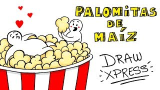 PALOMITAS DE MAÍZ 🍿| DrawXpress
