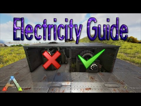ARK - How To Protect Your Generator And Cables | Turret Placement Guide | Building Tips & Ideas