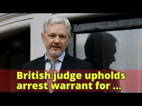 British judge upholds arrest warrant for Julian Assange