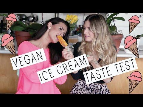 Vegan Ice cream taste test with Rachel David