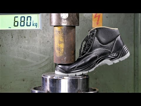 how-strong-are-safety-shoes?-cheap-vs.-expensive-in-hydraulic-press-test